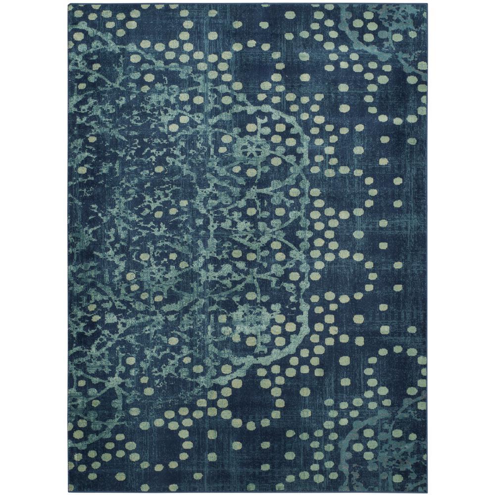 Constellation Vintage Blue/Multi 4 ft. x 6 ft. Area Rug
