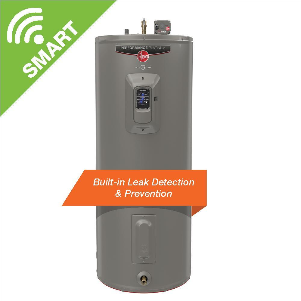 Gladiator 40 Gal. Medium 12 Year 5500/5500-Watt Smart Electric Water Heater with Leak Detection and Auto Shutoff