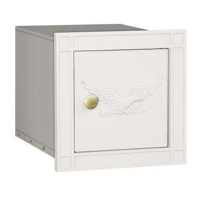 4100 Series 11.5 in. W x 11.5 in. H x 15.75 in. D White Non-Locking Eagle Door Cast Aluminum Column Mailbox