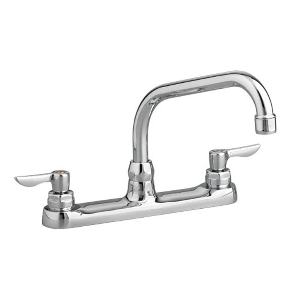 American Standard Monterrey 2-Handle Standard Kitchen Faucet with 8 in. Reach Gooseneck Spout in Polished Chrome