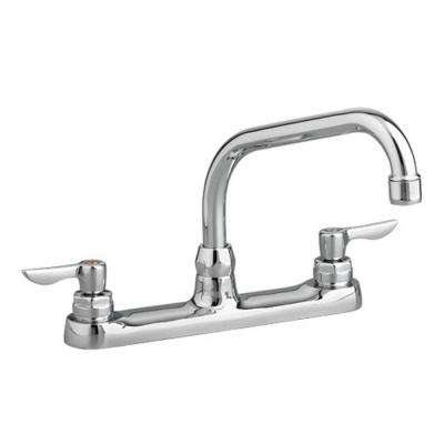 Monterrey 2-Handle Standard Kitchen Faucet with 8 in. Reach Gooseneck Spout in Polished Chrome