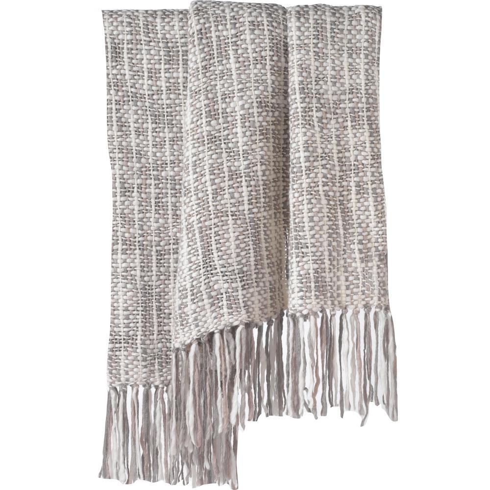 Cozi Grey Knit Chunky Throw