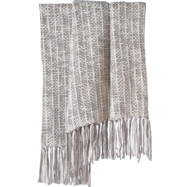 Couture Dreams Cozi Grey Knit Chunky Throw C T The Home
