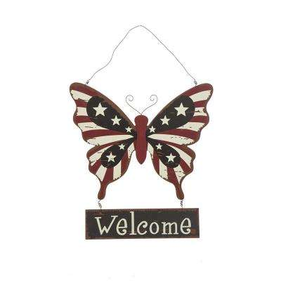 15.75 in. H Wooden Butterfly Wall Decor