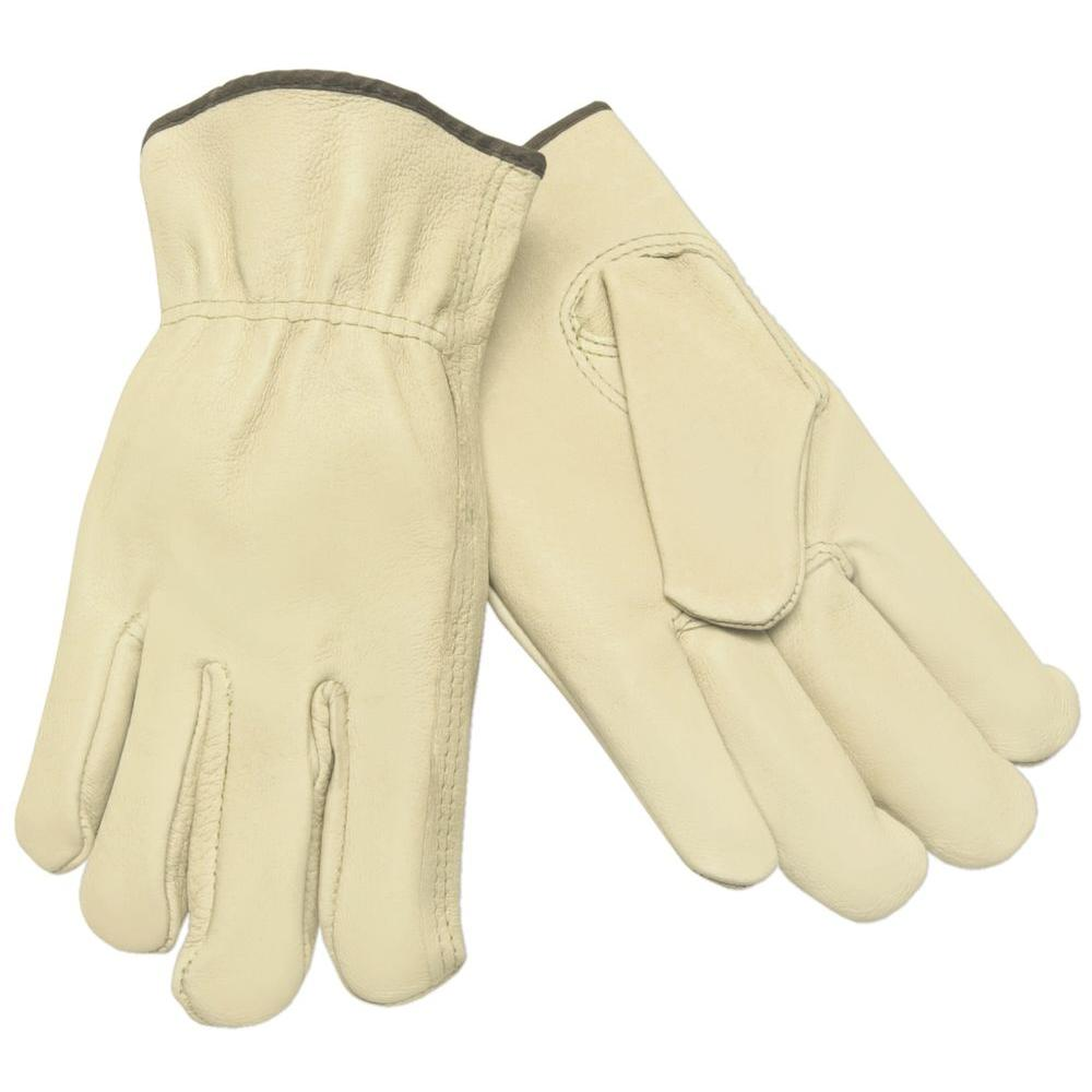 MSA Safety Works Premium Grade Unlined Pigskin Large Driver Glove