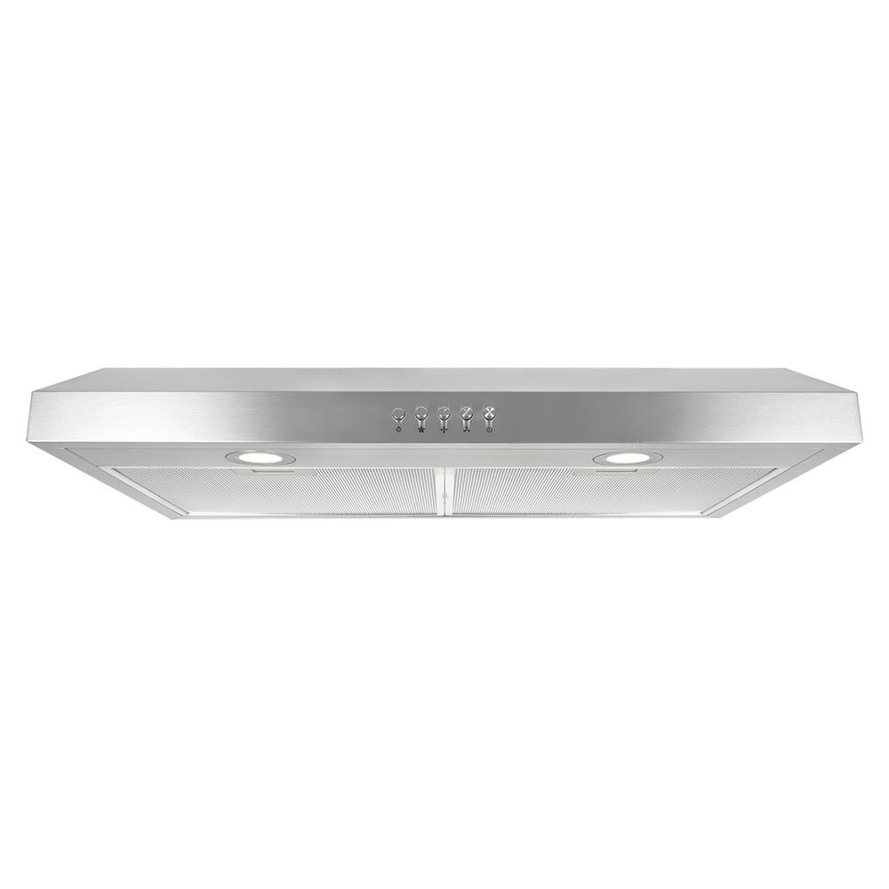 Ducted Under Cabinet Range Hood In Stainless Steel