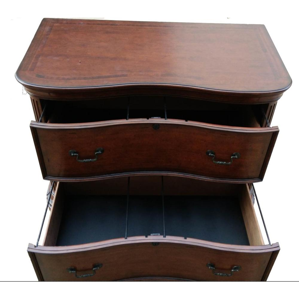 Turnkey Product Burnt Sienna Finish Lateral Filing Cabinet