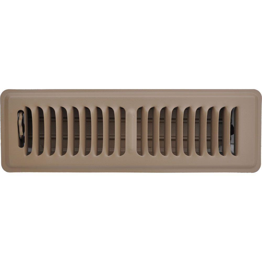 Speedi Grille 2 In X 10 In Floor Vent Register Brown With 2 Way Deflection