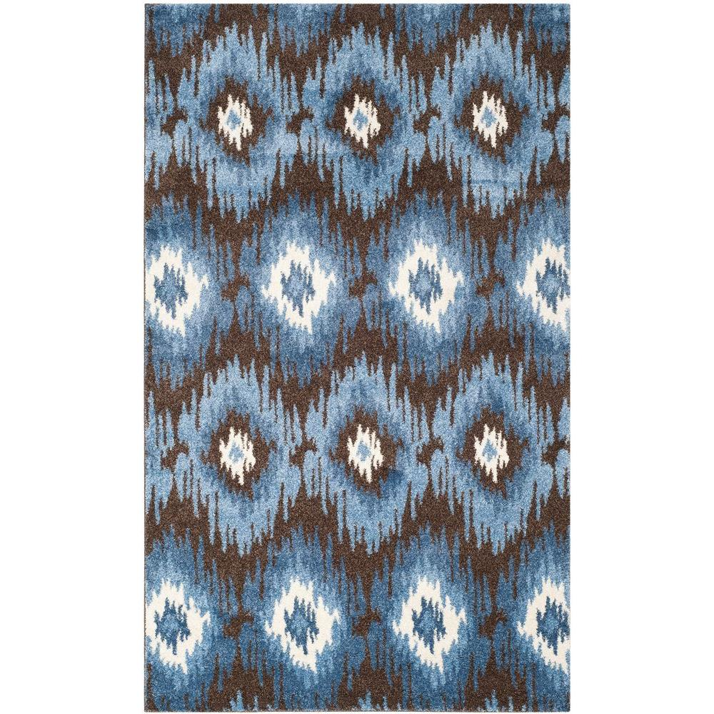 Safavieh Retro Dark Brown/Blue 5 ft. x 8 ft. Area Rug