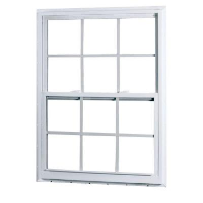 23.375 in. x 35.25 in. 50 Series Single Hung White Vinyl Window with Nailing Flange and Grilles