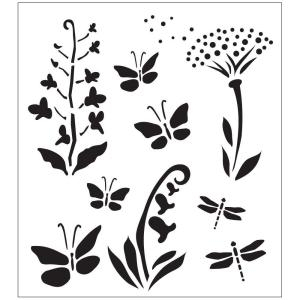 FolkArt Wildflowers and Butterflies Painting Stencils by FolkArt
