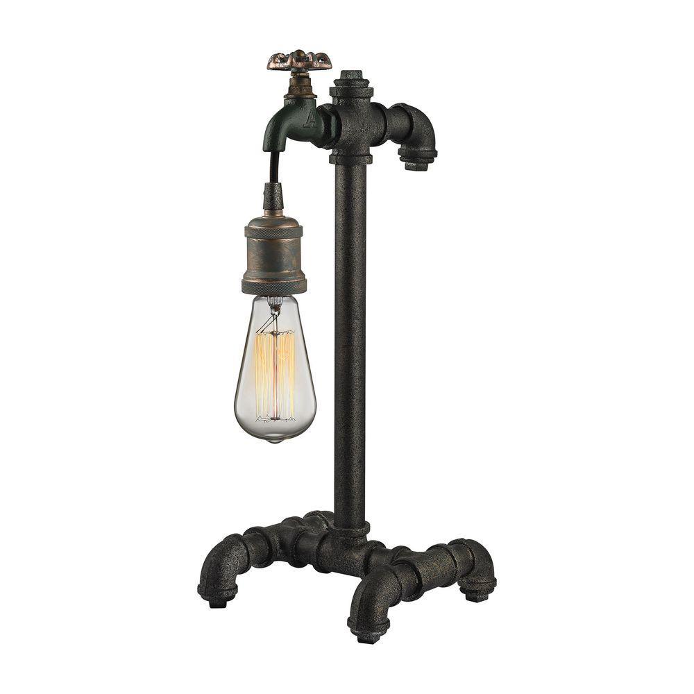 Jonas 18 in. Multi-Tone Weathered Table Lamp