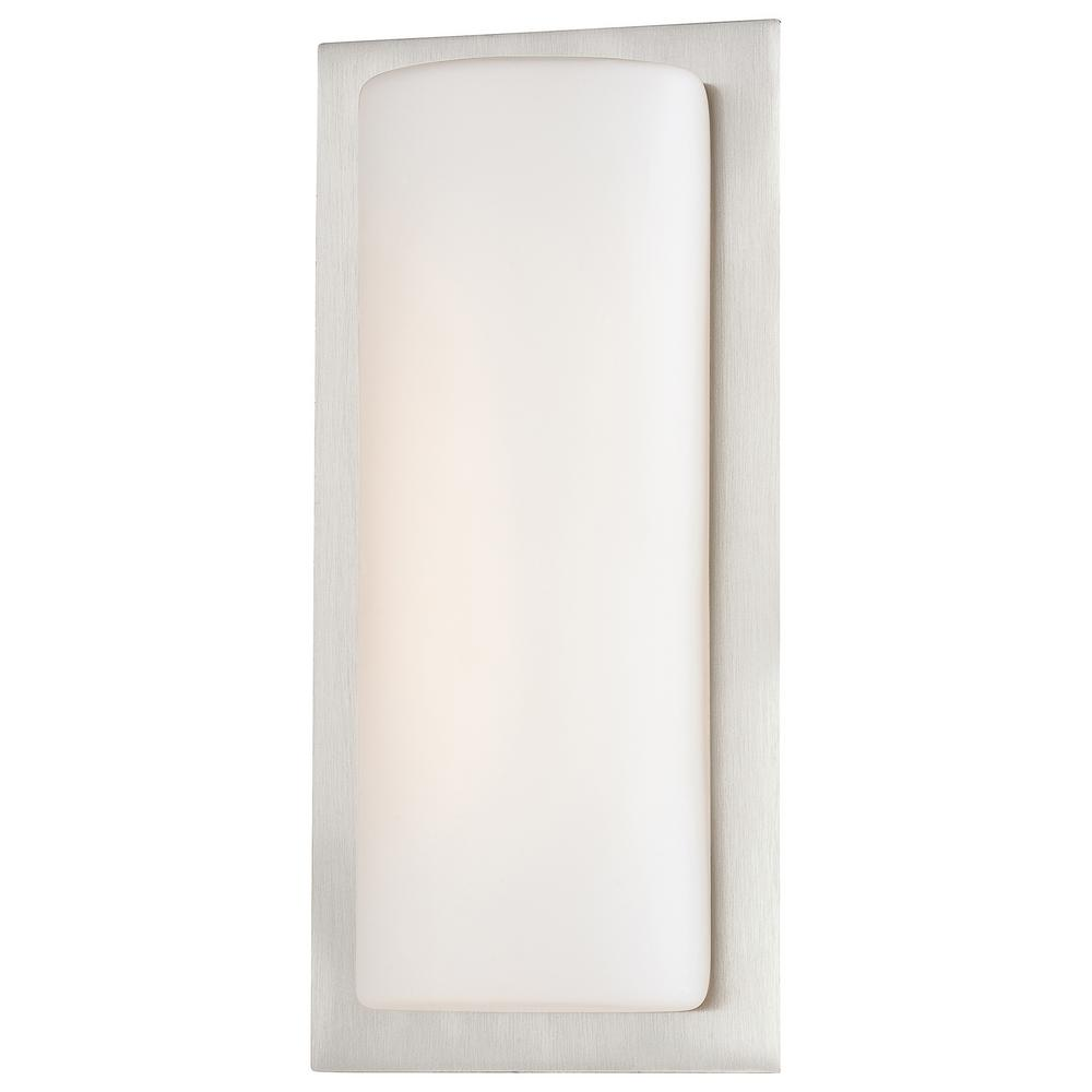 40-Watt Equivalent Brushed Stainless Steel Integrated LED Wall Sconce