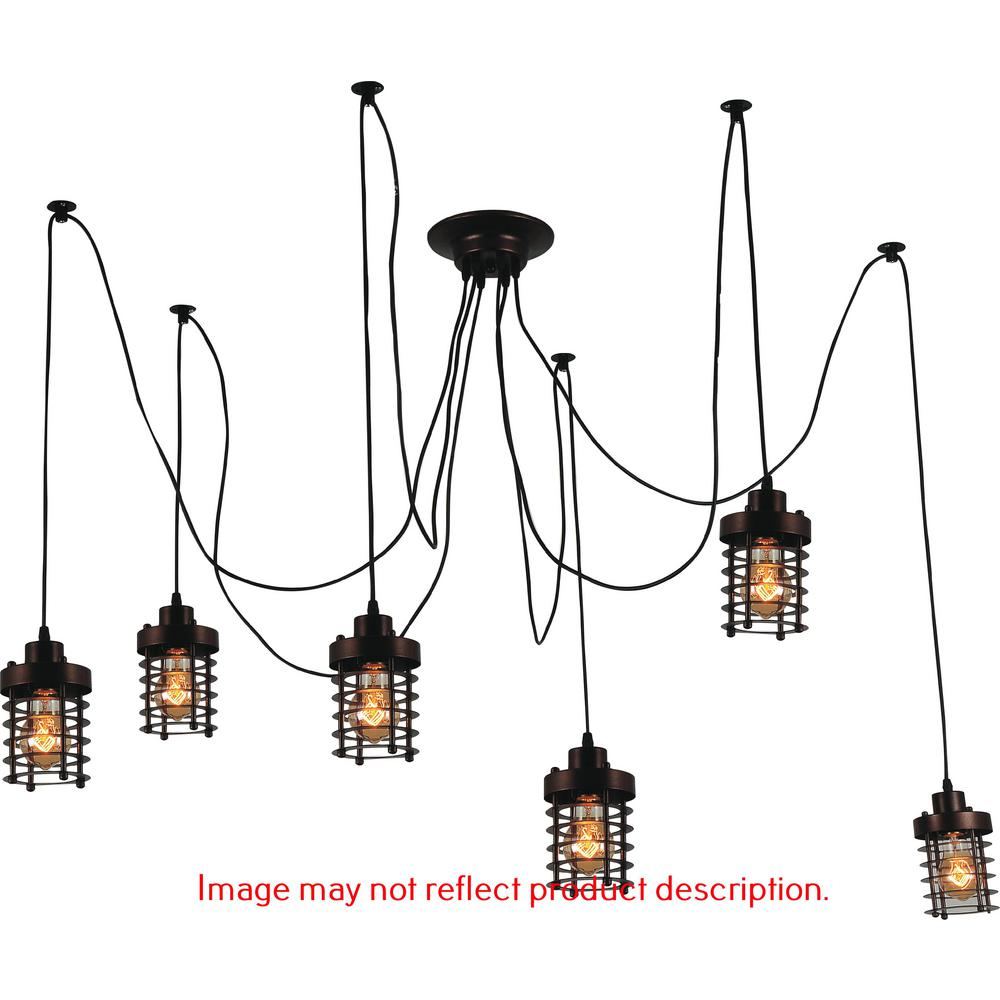Bray 6-Light Black Chandelier
