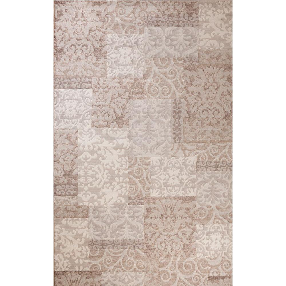 Matrix Collection Fantasy Beige 6 ft. 7 in. x 9 ft. 6 in. Area Rug