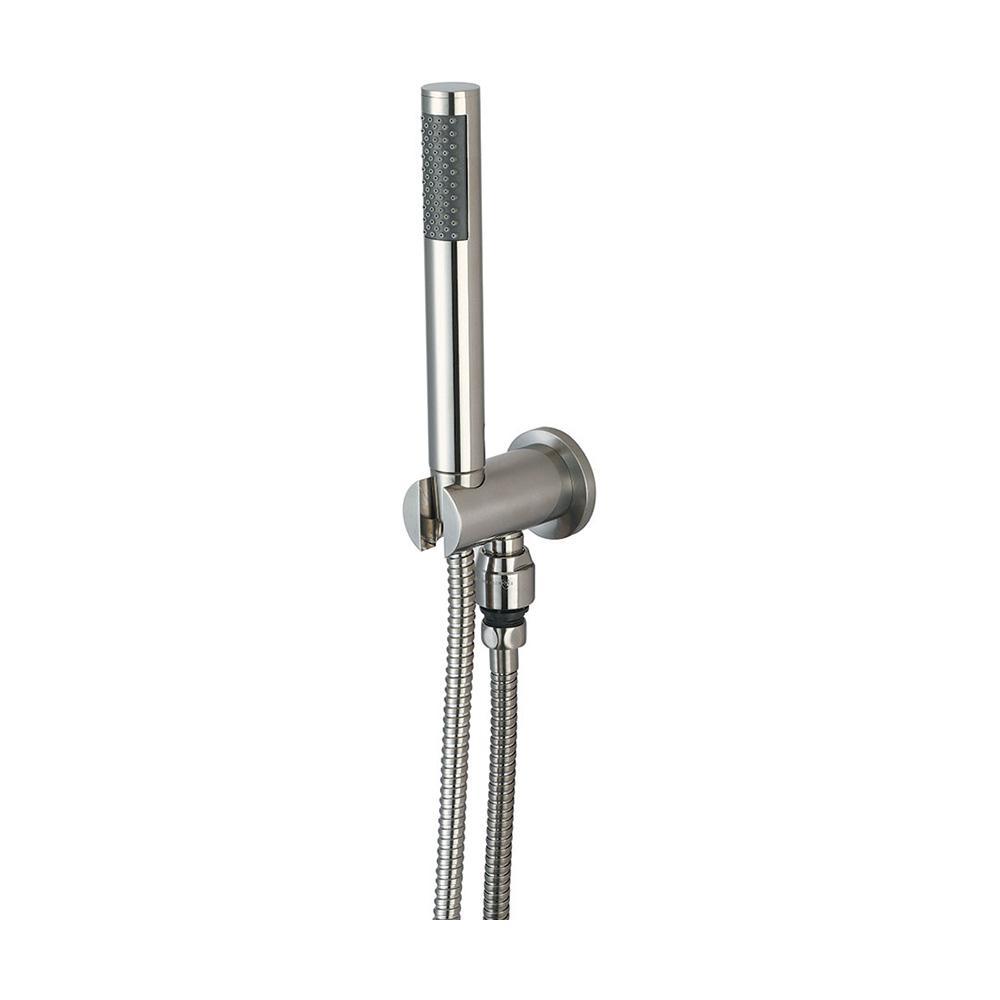 1-Spray 1 in. Single Wall Mount  Handheld Shower Head in Brushed Nickel