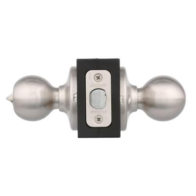 Polo Satin Nickel Bed/Bath Door Knob Featuring Microban Antimicrobial Technology