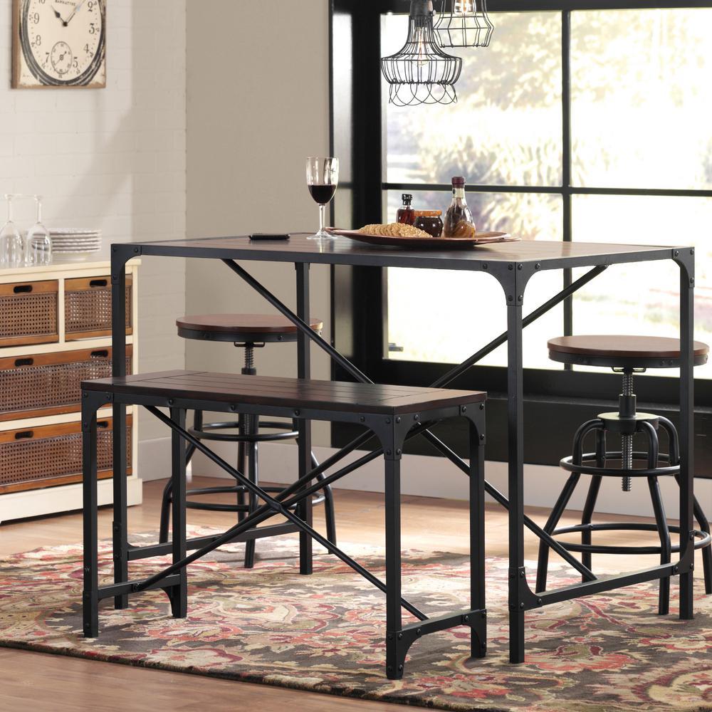 Home Decorators Collection Industrial Empire Black Pub/Bar Table