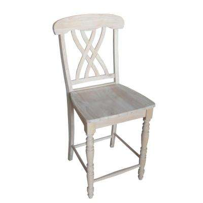 International Concepts 24 inch Unfinished Wood Bar Stool