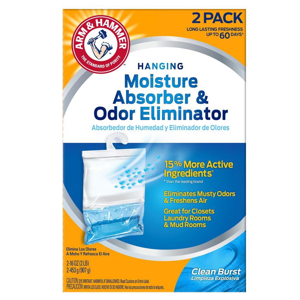 Arm & Hammer 16 oz  Moisture Absorber and Odor Eliminator Clean Burst Scent  (2-Pack)