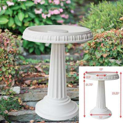 Grecian Bird Bath in White