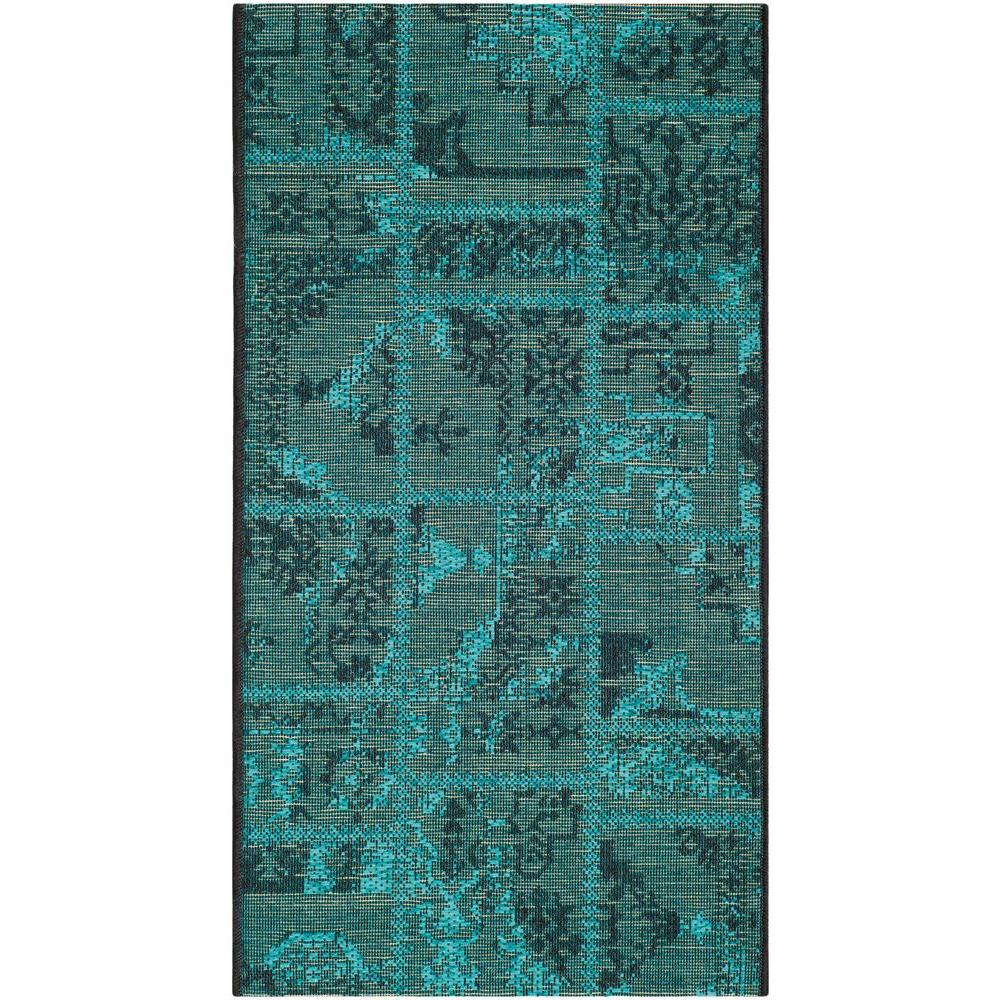 Safavieh Palazzo Black/Turquoise 2 ft. x 3 ft. 6 in. Area Rug