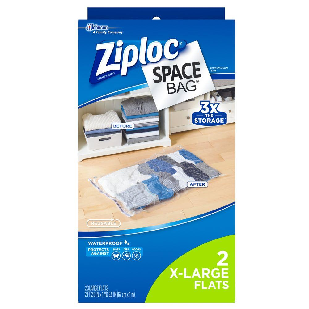 Ziploc Space Bags X Large Plastic Bag (2 Pack)