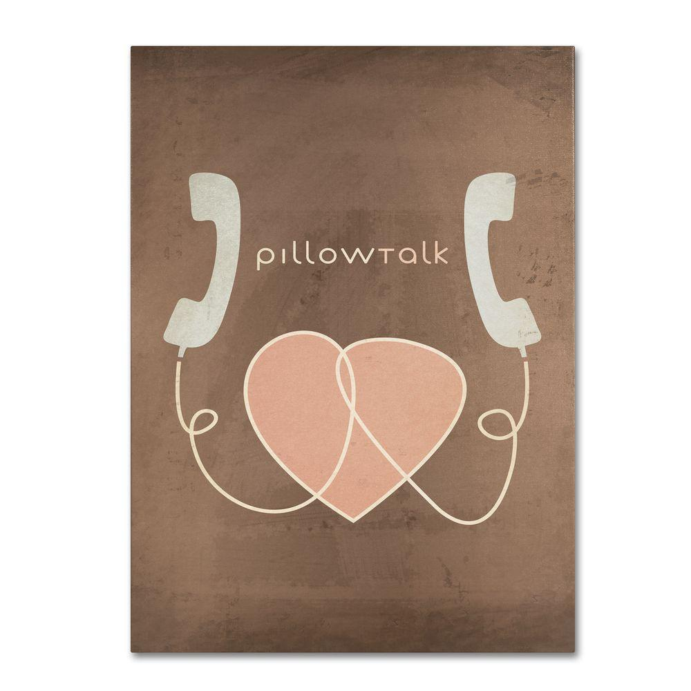 Trademark Fine Art 30 in. x 47 in. Pillow Talk Canvas Art