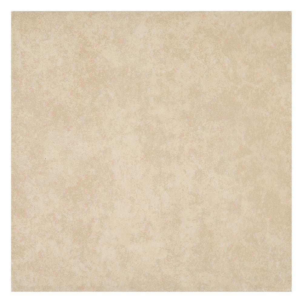 TrafficMASTER Laguna Bay Cream 12 in. x 12 in. Ceramic Floor and Wall Tile (15 sq. ft. / case ...