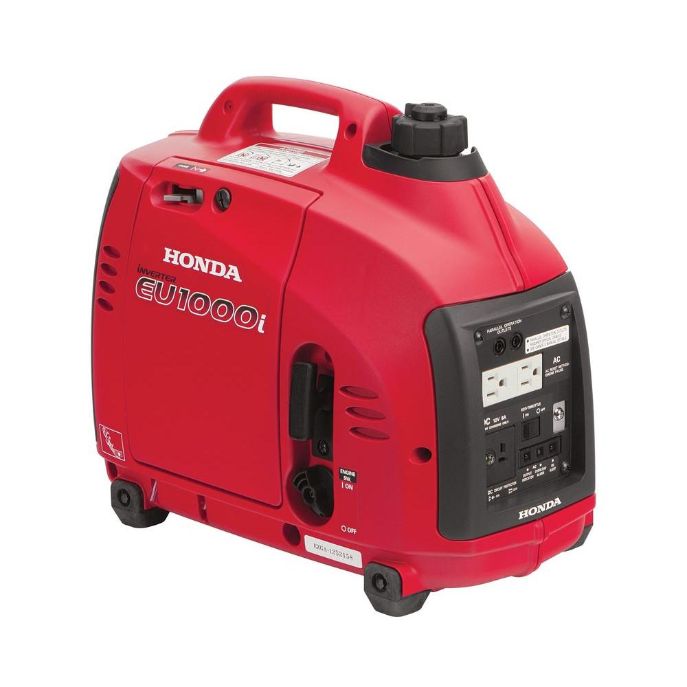 Honda 1000 Watt Super Quiet Gasoline Powered Portable Inverter Generator  With Eco Throttle And