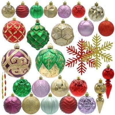 warm tidings assorted ornament set 75 count