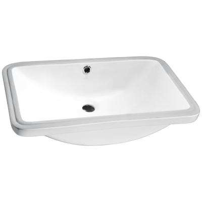 Lanmia Series 7.25 in. Ceramic Undermount Sink Basin in White