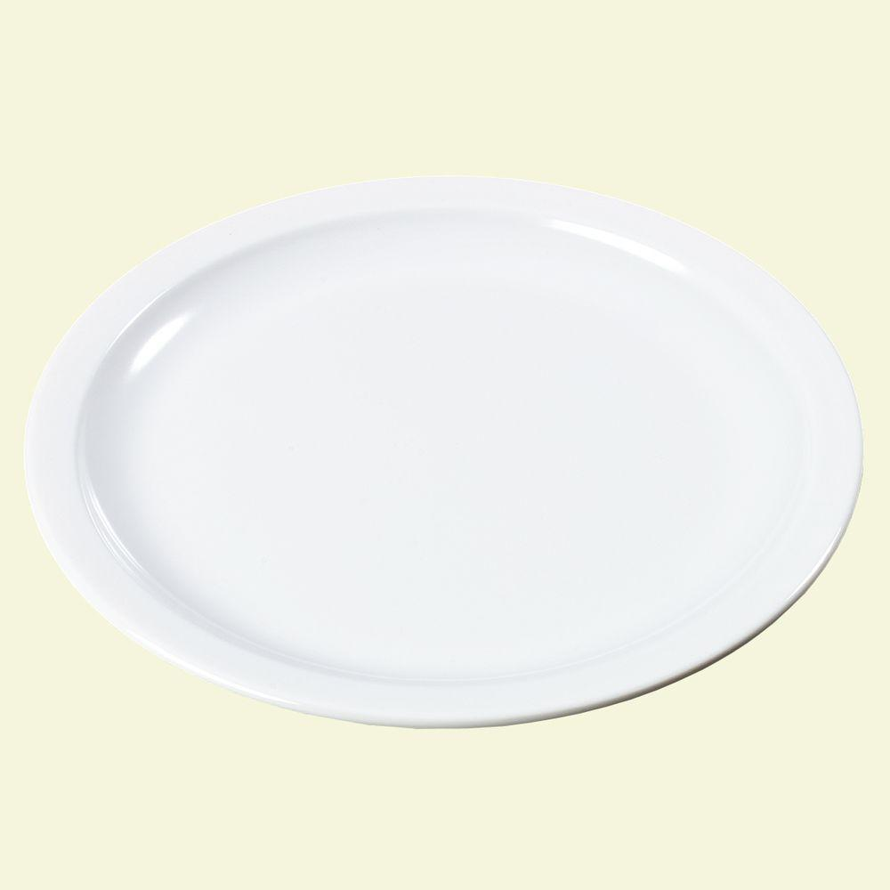 6.44 in. Diameter, 0.63 in. H Melamine Pie Plate in White