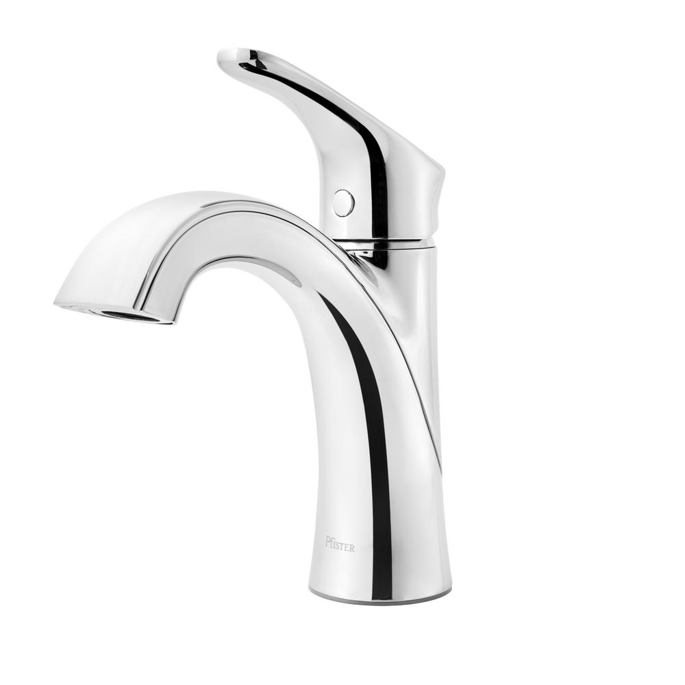 Pfister Weller Single Hole Single Handle Bathroom Faucet In Polished Chrome