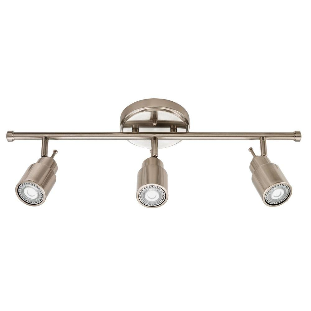 rustic track lighting. Lithonia Lighting 2 Ft. Brushed Nickel Integrated LED Track Kit 1 -Pack Rustic