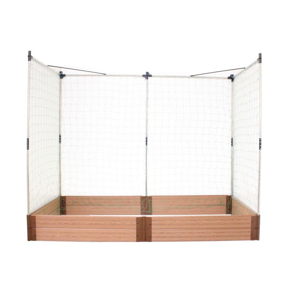 Frame It All Two Inch Series 4 ft. x 8 ft. x 11 in. Composite Raised Garden Bed Kit with two Veggie Walls