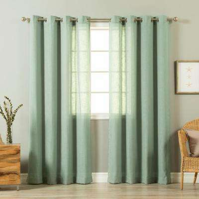 84 in. L Spruce Linen Blend Curtain Panel (2-Pack)