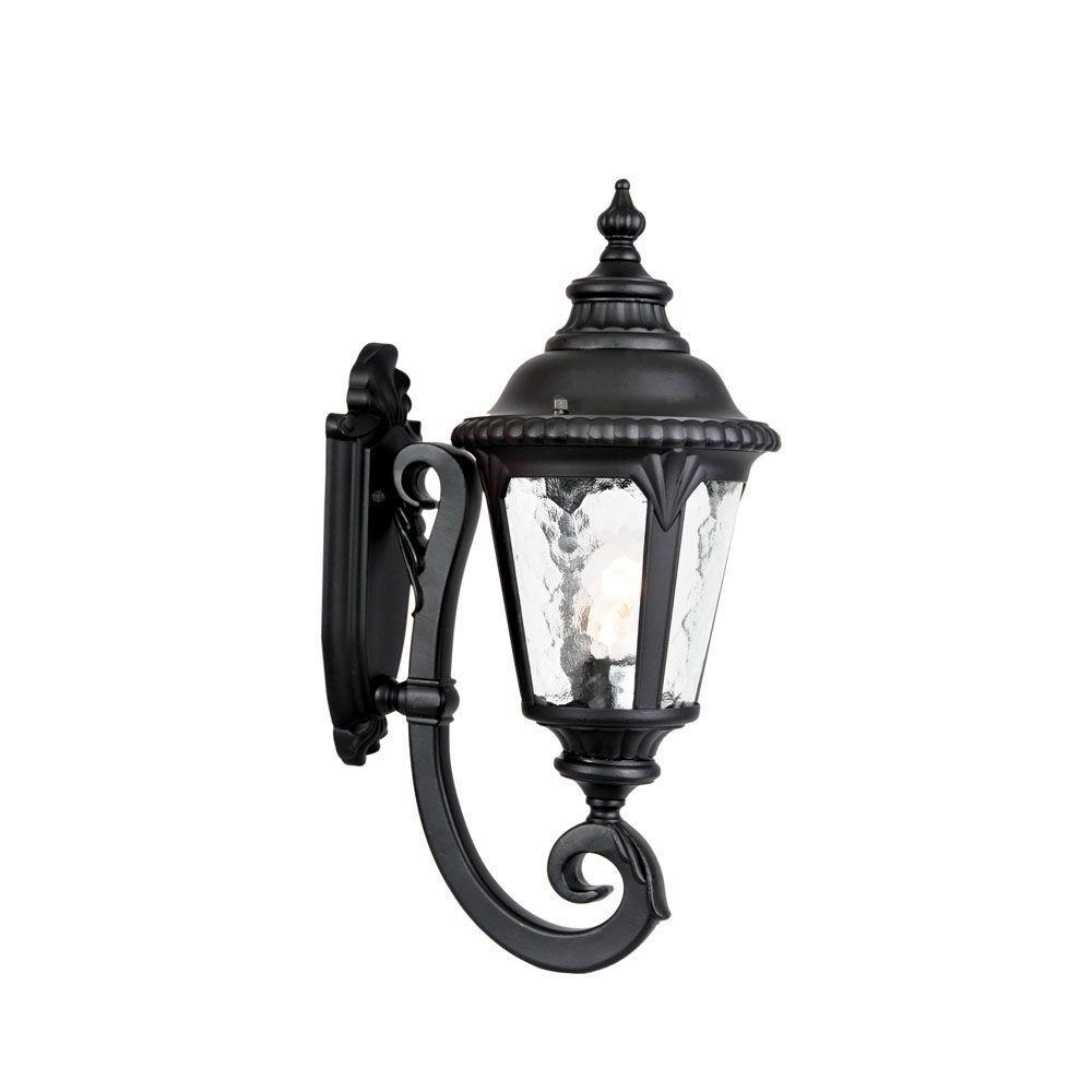 Surrey Collection Wall-Mount 1-Light Outdoor Matte Black Light Fixture