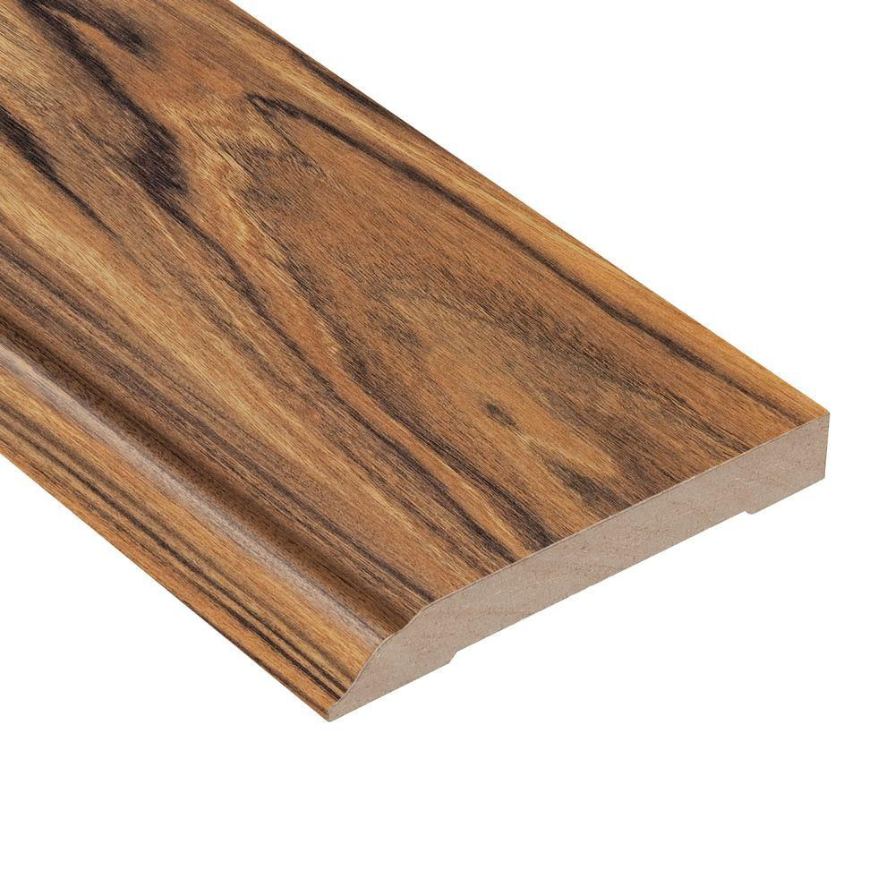 Home Legend Hawaiian Tigerwood 1/2 in. Thick x 3-13/16 in. Wide x 94 in. Length Laminate Wall Base Molding