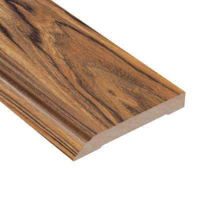 Hawaiian Tigerwood 1/2 in. Thick x 3-13/16 in. Wide x 94 in. Length Laminate Wall Base Molding