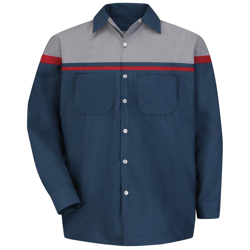 Men's 2X-Large Navy/Red/Light Grey Performance Technician Shirt