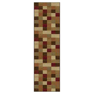 All in a Square Beige 2 ft. x 8 ft. Runner Rug
