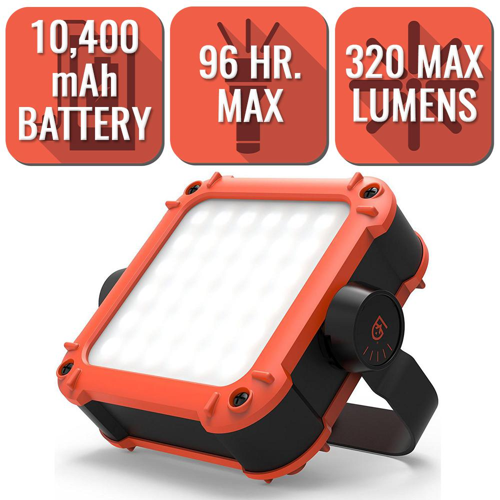 Gear Aid ARC Series 320 Lumen LED Work Light with 10,400mAh Power Bank for Mobile Charging