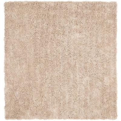 Classic Shag Ultra Taupe 7 ft. x 7 ft. Square Area Rug