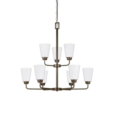 Kerrville 9-Light Heirloom Bronze Chandelier