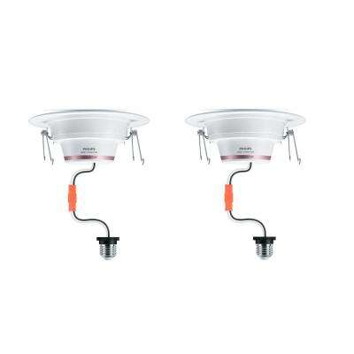 5/6 in. 65Watt Equivalent Color & Tunable White Dimmable Wi-Fi Wiz Connected Remodel Recessed Downlight LED Kit (2-Pack)