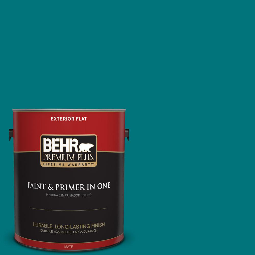 1-gal. #T15-3 Essential Teal Flat Exterior Paint
