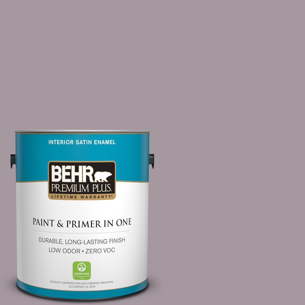 BEHR Premium Plus 1-gal. #N110-3 Fig Preserves Satin Enamel Interior Paint