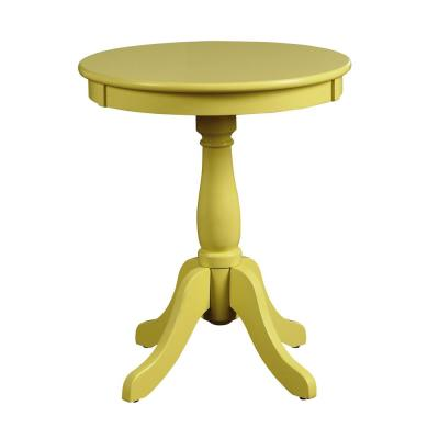 Amelia Yellow Solid Wood Leg Side Table