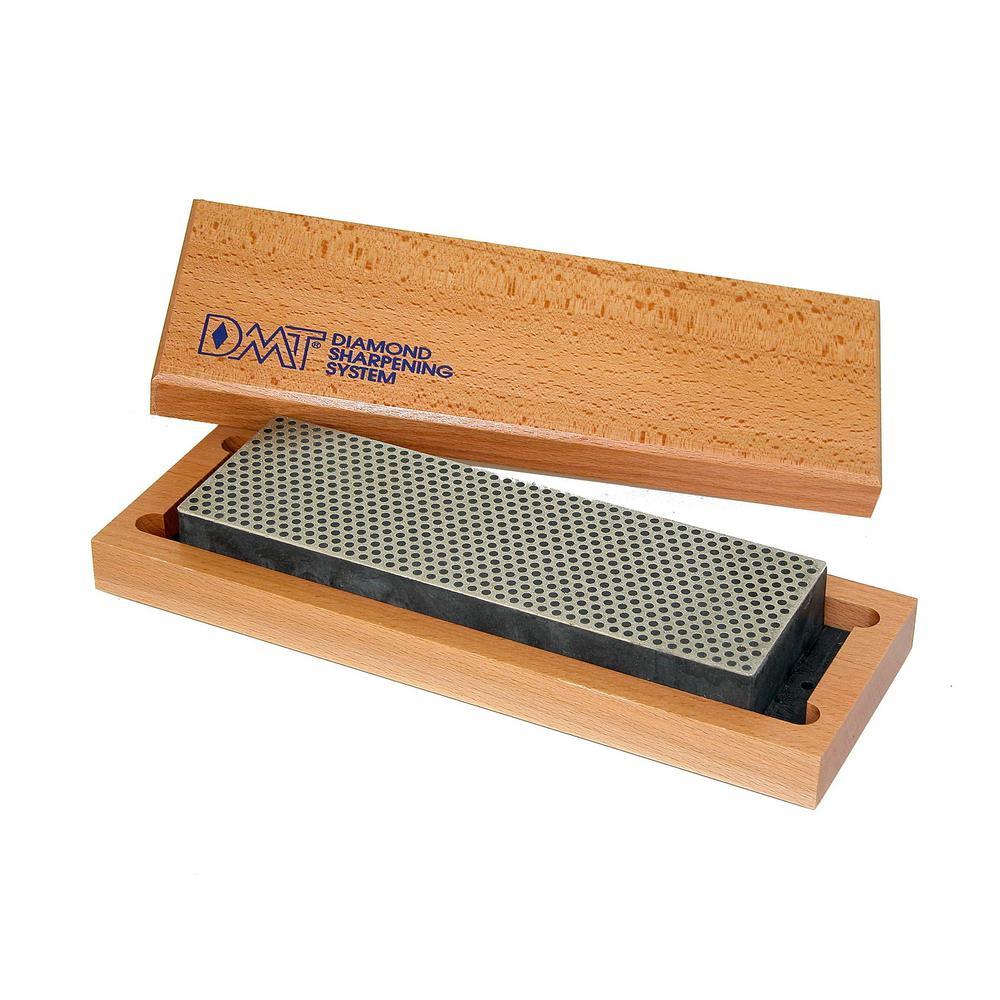 8 in. Diamond Whetstone Sharpener, Extra-Coarse Handheld Sharpener with Hardwood Box